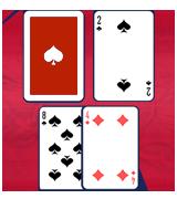 딜러의 2 또는 3 업카드를 상대로 12를 히트합니다